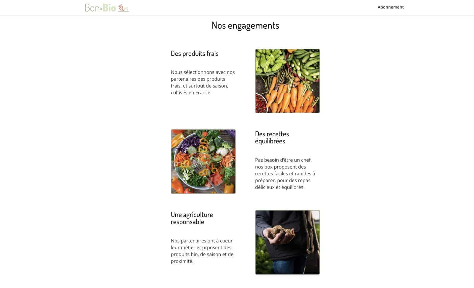 Création site web vitrine pour livraison à domicile extrait 3