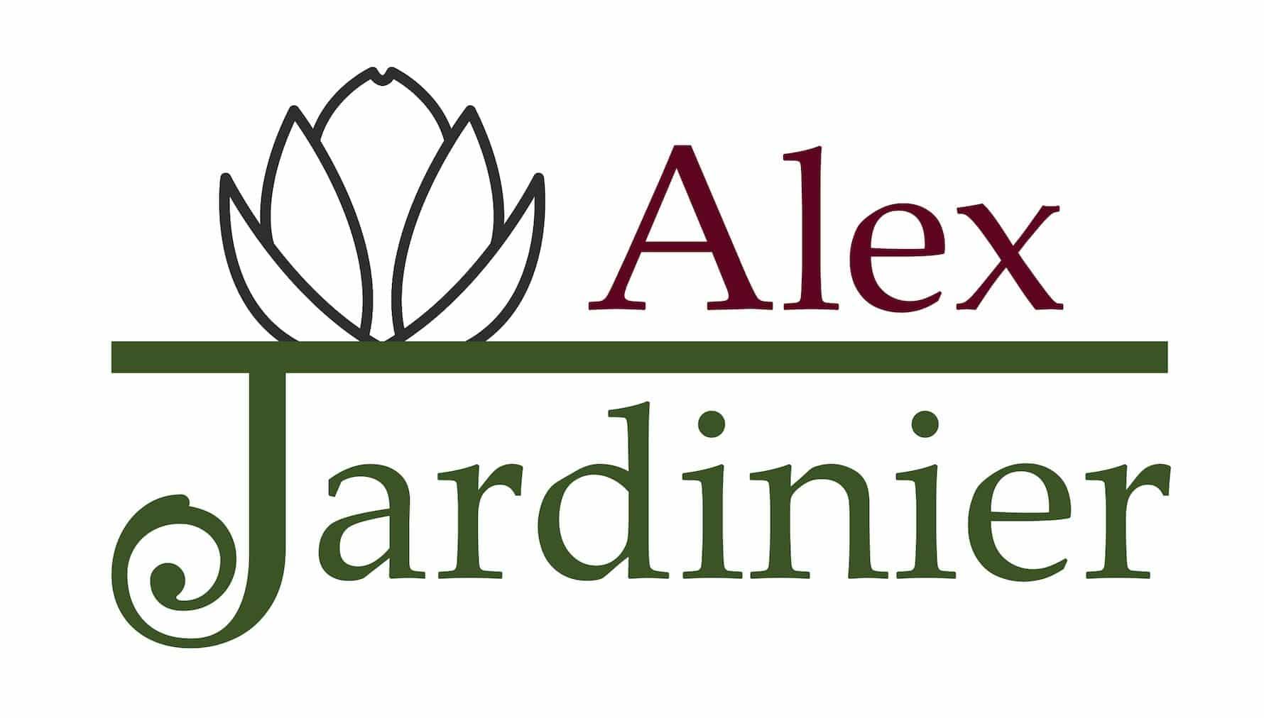 Logo alexejardinier.com en couleur