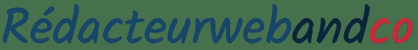Logo rédacteur web and co en couleur bleu, noir et orange